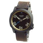 NIXONニクソン腕時計メンズユニセックスRANGER40LEATHERレンジャー40レザーオールブラック/ブラス/ブラウンA471-2209A4712209【RCP】