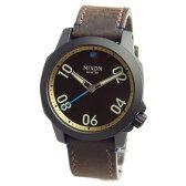 NIXON ニクソン 腕時計 メンズ ユニセックス RANGER 40 LEATHER レンジャー40レザー オールブラック/ブラス/ブラウン A471-2209 A4712209 【RCP】