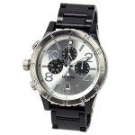 NIXONニクソンメンズ腕時計48-20クロノグラフブラック/シルバーメンズ男性用A486180A486-180