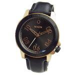 NIXONニクソン腕時計メンズRANGERLEATHERレンジャーレザーローズゴールド/ガンメタルサンレイブラックA508-2308A5082308【RCP】