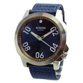 NIXON ニクソン 腕時計 メンズ RANGER 45 NYLON レンジャー45ナイロン ネイビー/ブラス ブルー A514-2076 A5142076 【RCP】