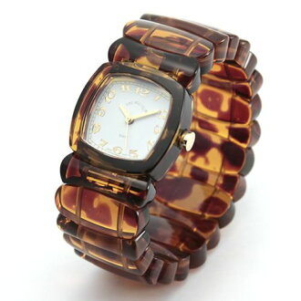 Time Will Tell タイムウィルテル ( タイムウイルテル ) pop watch Solid Colors tortoise ( tortoiseshell ) pattern modern & vintage Bangle, breath and watch Solid-TO (G)