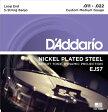 【D'Addario (ダダリオ)】【バンジョー弦】 ニッケル Custom Medium 5弦 .011-.022 EJ57