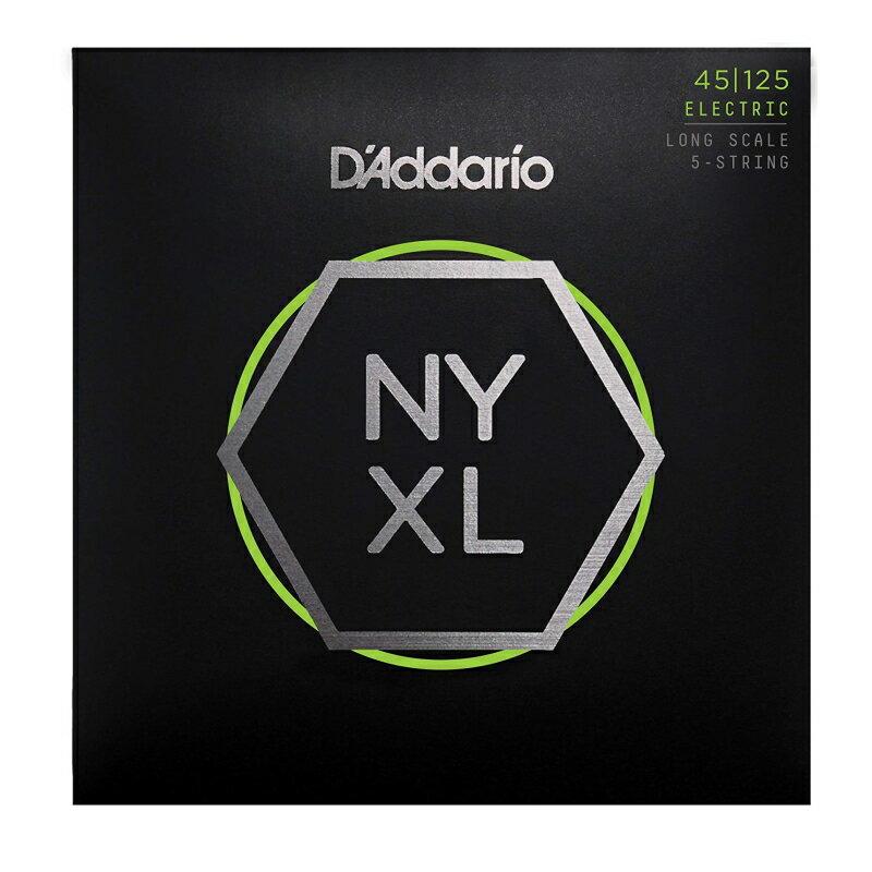 ベース用アクセサリー・パーツ, 弦 DAddario NYXL Long Scale 5 .045-.125 NYXL45125