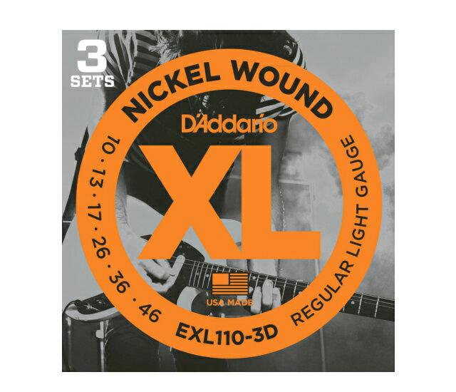 ギター用アクセサリー・パーツ, エレキギター弦  3DAddario EXL-110(EXL110) 3