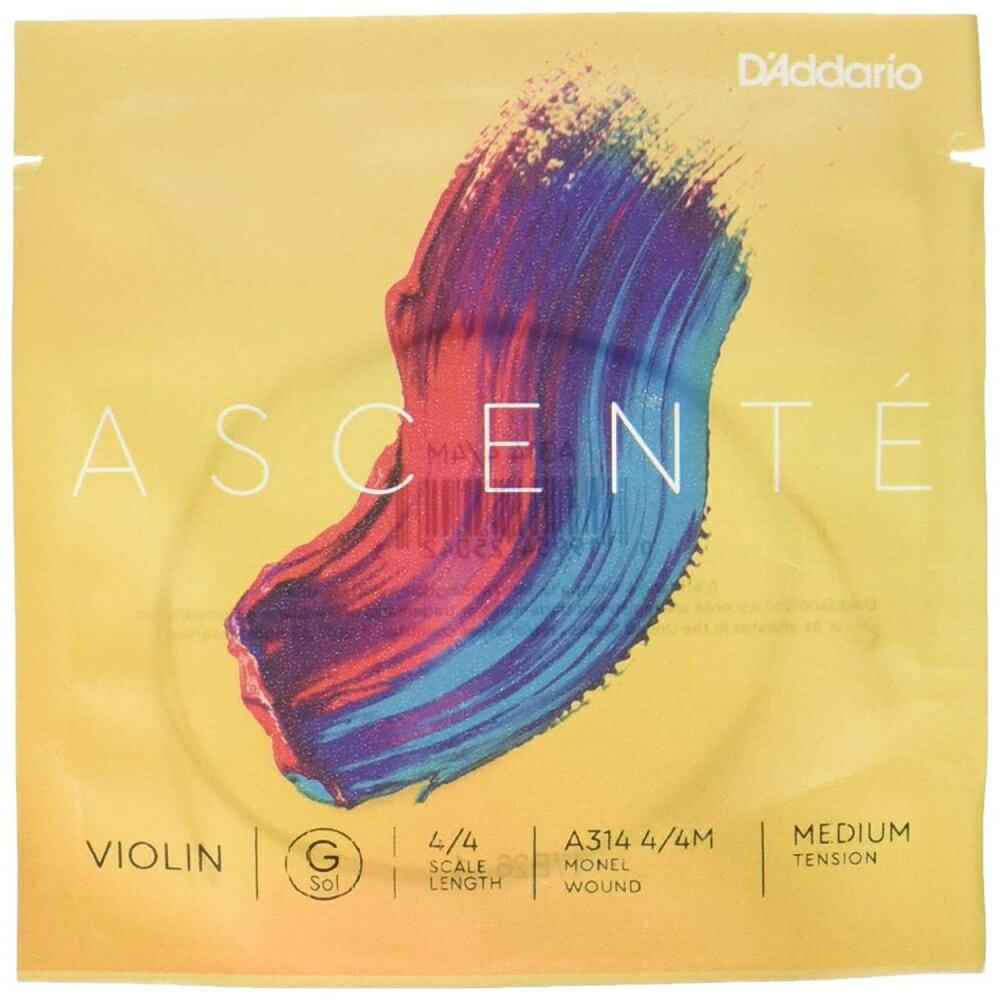 バイオリン用アクセサリー・パーツ, 弦 DAddario Ascente G A314 44M Medium Tension