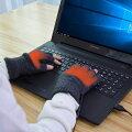【送料無料】USB指までヒーター手袋スマホも使える指なし手袋メンズ・レディース対応USBあったかグッズUSBWMGLV