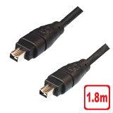 【メール便送料無料】IEEE1394ケーブル 4ピン-4ピン 1.8m FireWire・i.LINK・DVケーブル 3AカンパニーCO PCC-IL418 【返品保証】