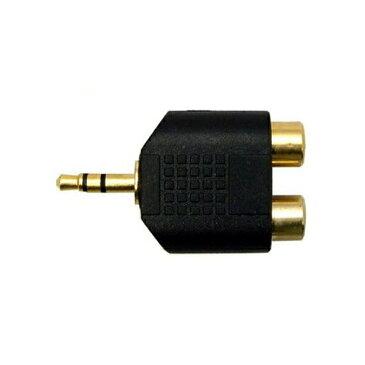 【メール便送料無料】3Aカンパニー ステレオピン(メス)-ステレオミニ(オス)変換プラグ 2ピン-φ3.5mm オーディオ変換アダプタ AAD-ST35S 【返品保証】