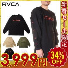 RVCAルーカTシャツロンTメンズFLIPRVCALS2020秋冬ベージュ/ブラック/モスグリーン/ホワイトS/M/L【evi】
