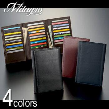 財布革メンズbtwl03Milagroミラグロソフトレザーカード30枚収納長財布牛革