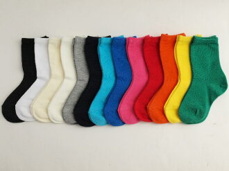 Plain solid color ' kids crew socks made in Japan find quadruped 1050 yen