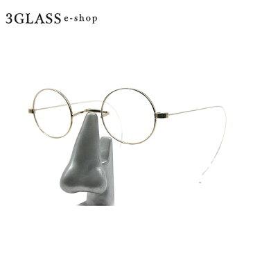 【貴重】レトロな雰囲気を醸し出すクラシックな高級丸メガネ【3GLASS e-sop】【楽ギフ_包装】 メンズ メガネ サングラス【店頭受取対応商品】