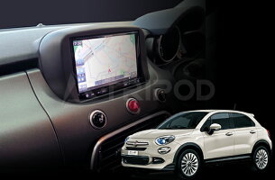 【F500X-03BK-CAN】FIAT500X/フィアット500X2DINナビ取付キット
