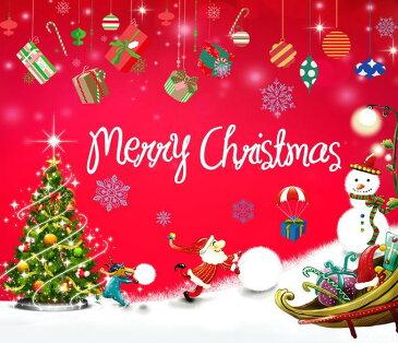ウォールステッカー【メリークリスマス♪】壁紙 シール 賃貸OK はがせる 剥がせる DIY 模様替え インテリア X'mas christmas サンタクロース 雪だるま サンタさん クリスマスツリー プレゼント スノーマン snowman 星 聖夜 クリスマスイブ