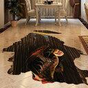ウォールステッカー【Dragon Hole】台紙60×90cm 壁紙 シール 賃貸OK はがせる 剥がせる DIY 模様替え インテリア 龍 穴 ドラゴン ホール だまし絵 床用 トリックアート 恐竜 怪獣