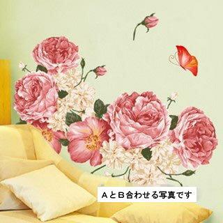 ウォールステッカー【豪華な薔薇】