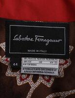 SalvatoreFerragamoサルヴァトーレフェラガモダウンジャケットレディースメーカーサイズ44レッド系【本物保証】【中古】【新古品未使用品】