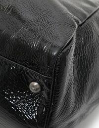 超美品FENDIフェンディピーカブーハンドバッグエナメルレザー黒ブラック2WAYストラップ付【本物保証】【中古】