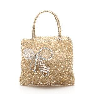 美丽的商品ANTEPRIMA电线袋手提包PVC金假珍珠金珠宝[正版保证] [二手]