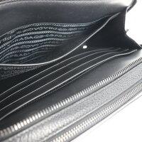超美品 PRADA プラダ セカンドバック クラッチバッグ 2VF052 レザー NERO【本物保証】【中古】