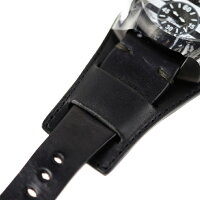 新品未使用展示品 Gaga Milano ガガミラノ マヌアーレ48 手巻き 限定 腕時計 5012.MMI ステンレススチール ブラック【本物保証】【中古】