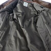 SAGA MINK サガミンク 毛皮コート ステンカラーコート ミンク ブラウン系 表記サイズ 11【本物保証】【中古】