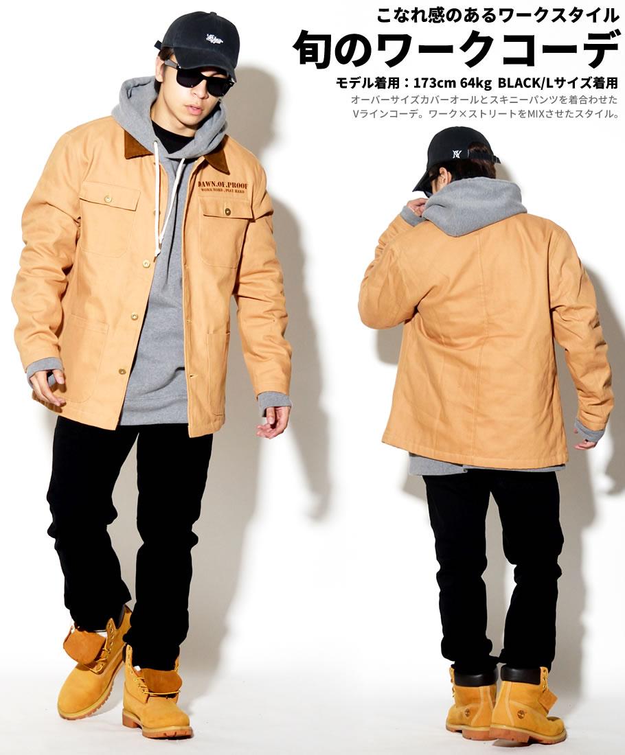 【楽天市場】カバーオール メンズ 大きいサイズ 作業着 防寒 ダックジャケット 中綿 B系 ファッション ブルゾン ワーク系:ストリートファッション  Third