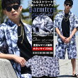 セットアップ メンズ 大きいサイズ 上下セット 半袖 アロハシャツ 花柄 春 夏 海 川 プール b系 ファッション ストリート系 ヒップホップ
