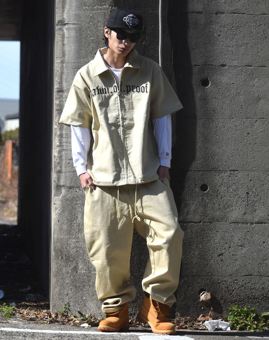 セットアップ メンズ 夏 大きいサイズ ワークウェア ダック 作業服 上下セット b系 ファッション ヒップホップ hiphop dop ディーオーピー