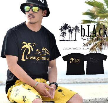 b系 Tシャツ【b.LA.ck ブラック】メンズ tシャツ プリントTシャツ 半袖 B系ファッション ダンス ヒップホップ ストリート系ファッション