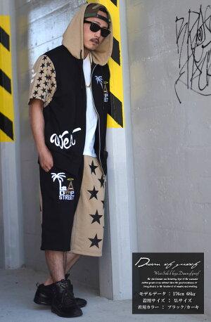 パーカーハーフパンツセットアップメンズセットアップロゴスウェットジャージ短パンショーツハーフパンツ半袖セットアップスウェット上下レディースBRB系ストリート系ファッションダンス衣装ダンスHIPHOPヒップホップ