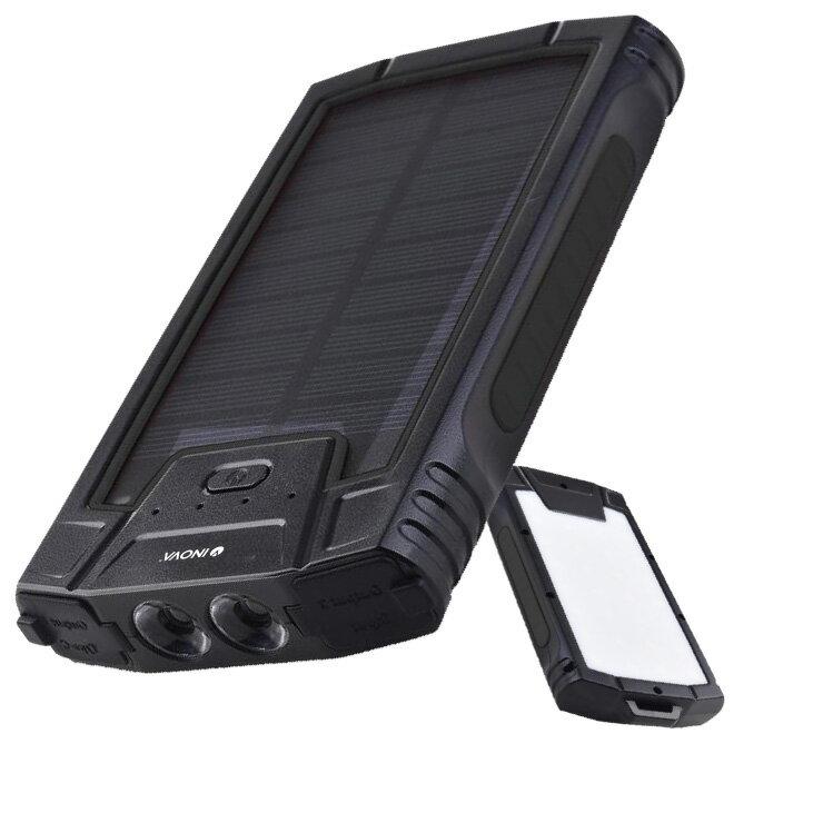 ソーラー充電器大容量10000mAhモバイルバッテリーソーラースマホ持ち運び充電器モバイル充電器ソーラーパネル太陽光パネル小型USBPSE認証防災グッズ災害アンドロイドiPhone12iPhone8iPadおすすめスマートフォン災害用INOVAイノバuu
