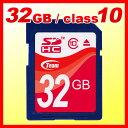\25日はポイント5倍/【送料無料】TEAM チーム SDカード 32GB class10 メモリーカード SDHCカード 【10年保証付】 TG032G0SD28X