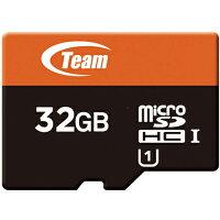 送料無料 TEAM チーム microSDカード 32GB SDHC UHS-1対応 SDアダプタ付き TUSDH32GUHS03 マイクロSDカード 任天堂スイッチ 任天堂 スイッチ switch ニンテンドースイッチ sdカード sd