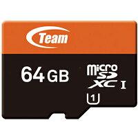 送料無料 TEAM チーム microSDカード 64GB Xtreem SDXC UHS-1対応 SDアダプタ付き TUSDX64GUHS03 マイクロSDカード 任天堂スイッチ 任天堂 スイッチ switch ニンテンドースイッチ sdカード sd