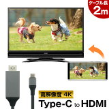 スマホ → HDMI → テレビ!【スマートフォンを、HDMI端子のテレビに映せる】HDMI変換 ミラーリング 4K USB Type-C to HDMI ケーブル スマホ Mac Windows パソコン Android 対応 【送料無料】 おすすめ