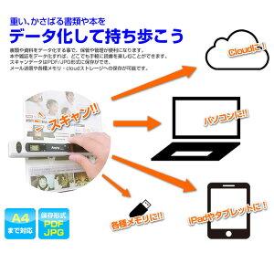 ハンディスキャナーPDF対応アウトレット特別価格!900dpiの超高画質をサポート。microSD32GBまで対応。電子書籍が自炊できます♪Anyty(エニティ)3R-HSA519PW