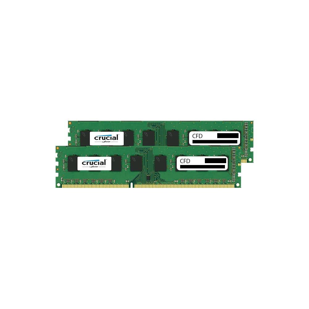 CFD W3U1600CM-4G Clucial スタンダードモデル DDR3-1600 デスクトップ用メモリ 240pin DIMM 4GB 2枚組画像