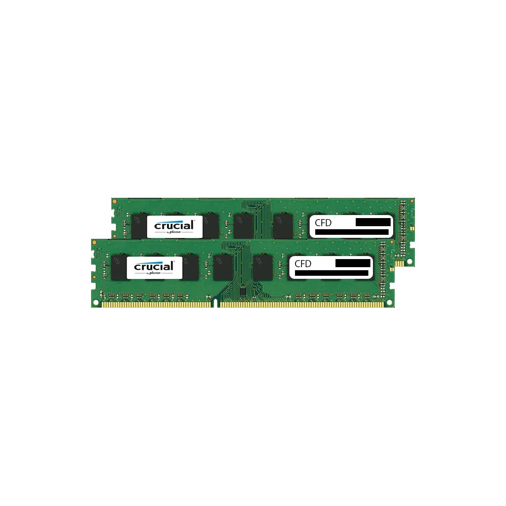 CFD W3U1600CM-8G Clucial スタンダードモデル DDR3-1600 デスクトップ用メモリ 240pin DIMM 8GB 2枚組画像