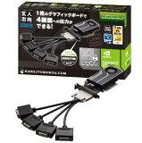 玄人志向 GF-QUAD-DISP/4DVI/LP NVIDIA GEFORCE GT730搭載 DVIx4出力 PCI-Express グラフィックボード(1GB/DDR3)