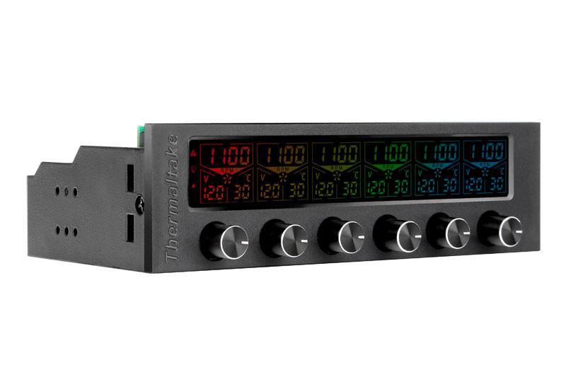 Thermaltake AC-024-BN1NAN-A1 Commander F6 RGB 最大6チャンネル対応のファンコントローラー画像