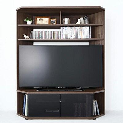 送料無料 ハイタイプコーナーテレビボード単品 ガイド Guide テレビボード 壁面 木製 テレビ台 幅120×奥行き40.3×高さ162cm TVラック 52V型まで対応 ブラウン 500029012