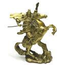 風水グッズ 財神 関羽公 騎乗関羽公 銅製 置物【 関羽雲長 馬 青龍刀 七星剣 三国志 ……