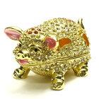 風水グッズ、幸運を呼ぶ金の豚、ブタの置物、小物入れ1