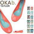 【今ならクーポンで10%オフ!?】 オカビー フラットシューズ OKA b. テイラー TAYLOR OKA b フラット オカビー パンプス 靴 ラバーシューズ ぺったんこ 靴 レディース リゾート ビーチ