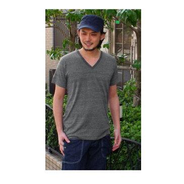 vネック tシャツ メンズ 無地 トライブレンドtシャツ 半袖 オフホワイト グレー レッド グリーン ブルー ブラック ネイビー ブラウン パープル ピンク vネックtシャツ 大きいサイズ xl ヴィンテージ メール便対応