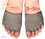 【日本製】COOLMAX正規品《5本指オープントゥハーフソックス》メール便送料無料ポイント消化レディースインナーソックス靴擦れ防止蒸れ防止トング