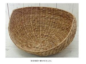 【500WORKS.】ウォーターヒアシンスバスケットL【収納】【ボックス】【天然素材】