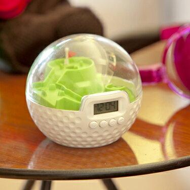 SPORTS TIMES Golf Clock - スポーツタイムズ ゴルフクロック 目覚まし時計 ギフト プレゼント ユニーク ゲーム【電池付】朝から集中!クリアするまで止まらない!スポーツ感覚のアラームクロック